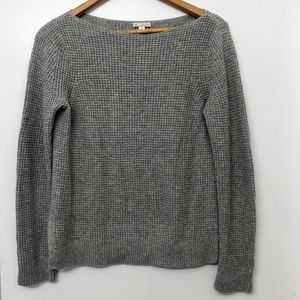 Gap grey knit sweater with side slits
